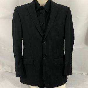 Pronto uomo 41R black pinstripe blazer wool